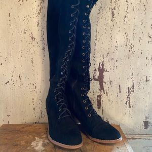 Over the Knee Boots Suede/ Leather
